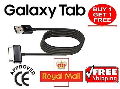 """2 x Samsung Galaxy TAB 2 Tablet 7"""" 8.9"""" 10.1"""" USB Data Lead Cable Charger UK"""