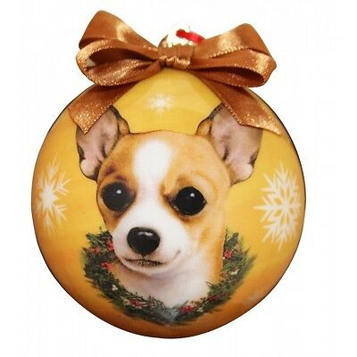 Chihuahua Tan Shatterproof Ball Dog Christmas Ornament