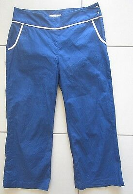 Ashworth Ladies Golf Capris Royal Blue Size 10 Australian (Size 6 Us)