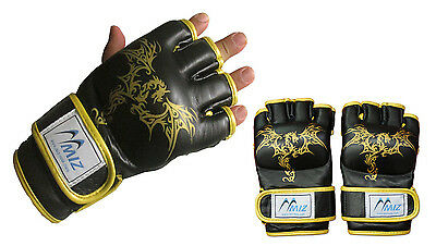 Boxing Mma Punch Bag Grappling Training Muay Thai Martial Gloves 100% Leather