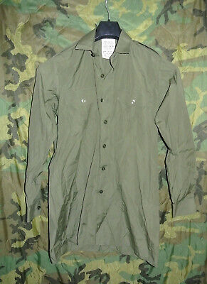 Britisches  Shirt Man#s General Service Olive Long Sleeve Hemd gr 37/38 -1074