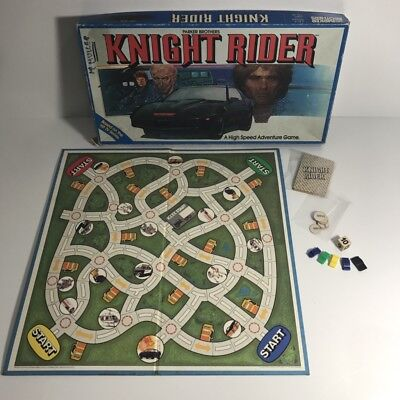 David Hasselhoff KNIGHT RIDER 1983 Parker Brothers Board Game *100% Complete*