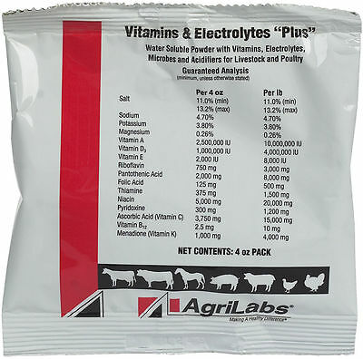 VITAMINS AND ELECTROLYTES PLUS  for racing pigeons and stock birds