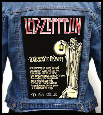 LED ZEPPELIN - Stairway To Heaven --- Giant Backpatch Back Patch