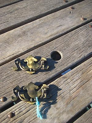 "Vintage 3 1/2"" * KBC * Drawer Cabinet Brass Heavy Duty Bail Pull Set of 2 USA"