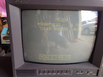 JVC TM-A13UCV  Color Video Monitor *USED* TESTED* WITH 2 INPUTS