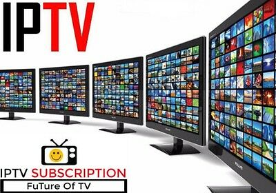 1 DAY IPTV Subscription 5000+ TV Channels+VOD.Lg Samsung Smart TV Mag box