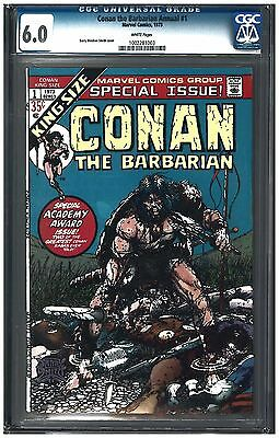 Conan The Barbarian Annual #1 Cgc 6.0 (1973) Marvel Comics White Pages
