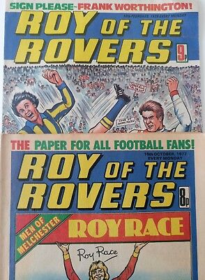 2 Roy of the Rovers Comics, 16 Oct 1977, 10 Feb 79, Great Condition!