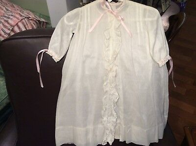 VINTTAGE INFANT 2 Piece Hand Made Christening Gown & Cover