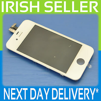 Iphone 4 White  Lcd Touch Screen Display Digitizer Glass Assembly With Frame