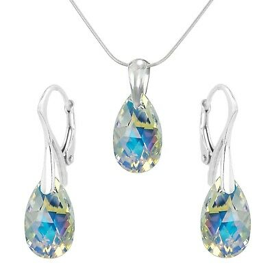 FASHIONS FOREVER® 925 Sterling Silver Joy Drop Set made with SWAROVSKI® ELEMENTS