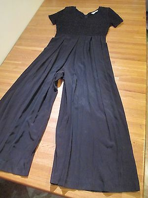 Vintage Compaignie International Express 11/12 M Off Black Wide Leg Jumpsuit