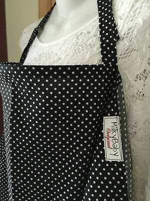 NEW  >NURSING COVER  hider* BREASTFEEDING COVER DOTS ELEGANCE TIMELESS STYLE