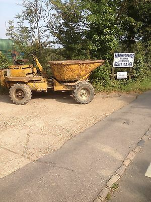 2T 4x4 4wd Key Start Hydraulic Tip Dumper Nice height to load with mini digger