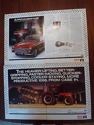 2x 2-Page Case/IH Tractor Adverts 1987 Free UK Postage Not Brochure/leaflet