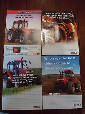 4x Case/IH Tractor Adverts 1996-97 Free UK Postage Not Brochure/leaflet