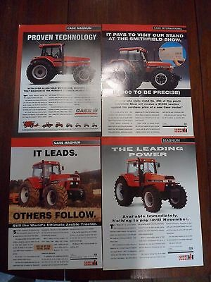 4x Case/IH Tractor Adverts 1993-95 Free UK Postage Not Brochure/leaflet