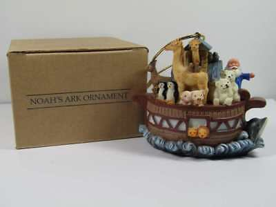 Mib Avon 2001 Noah'S Ark Resin Ornament