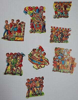 Vintage Lick And Stick Antique Stickers Carnival Children