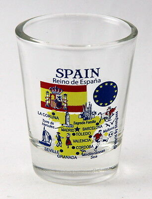 Spain Eu Series Landmarks And Icons Collage Shot Glass Shotglass