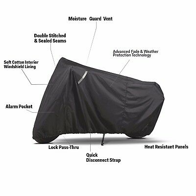 Large Oxford 300D Motorcycle Cover w Compression Bag Outdoor Waterproof UV