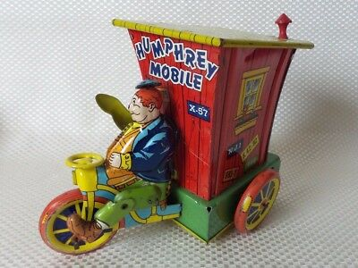 Great Vintage 1940s/50s Wyandotte Humphrey Mobile Tin Litho Wind-Up Toy