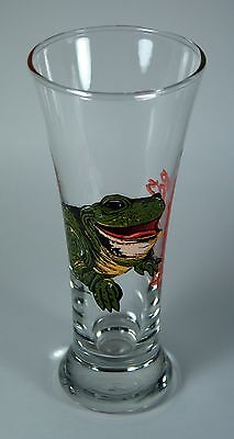 """Anheuser-Busch Budweiser Frog 1996 Pint Pilsener Beer Glass """"This Bud's for You"""""""