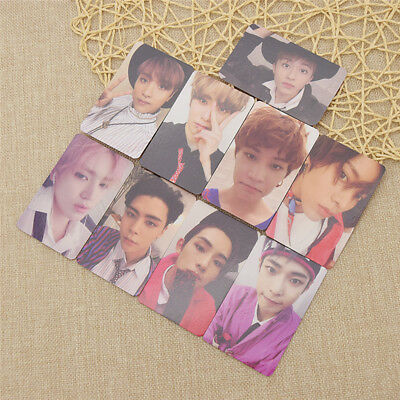 9pcs NCT127 Cherry Bomb 3rd Album Cards Members Photocards Set Fan Collection