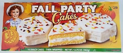 NEW Little Debbie 2017 Fall Party Cakes 10 Count FREE WORLDWIDE SHIPPING