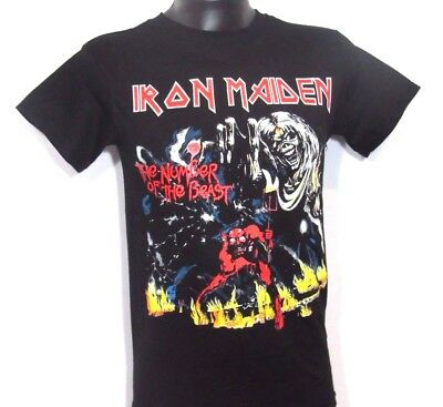 """New! Iron Maiden """"Number Of The Beast"""" Punk Rock T Shirt Men's Sizes"""