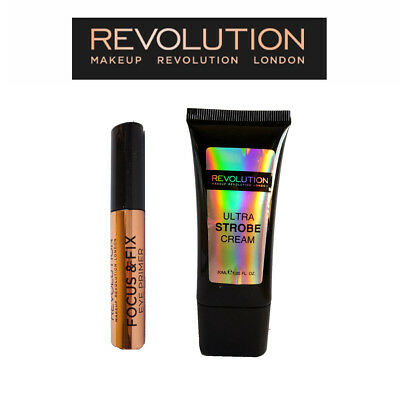 Makeup Revolution - 1 x Ultra Strobe Cream, 1 x Eye Primer P024