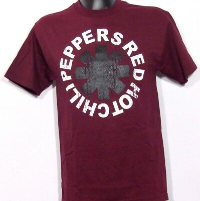 New! Red Hot Chili Peppers Burgundy Rock Band T Shirt