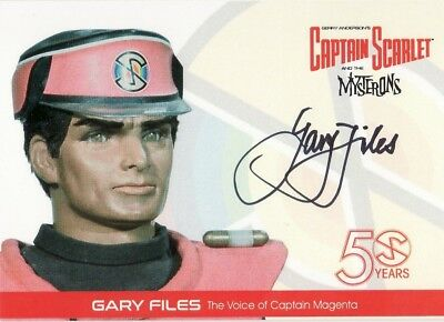 Captain Scarlet Indigo GF2 Gary Files Autograph From Binder Unstoppable Cards