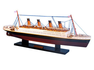 "Wooden Handcrafted Model Ship 20"" Limited High Museum Quality Amazing Detail"