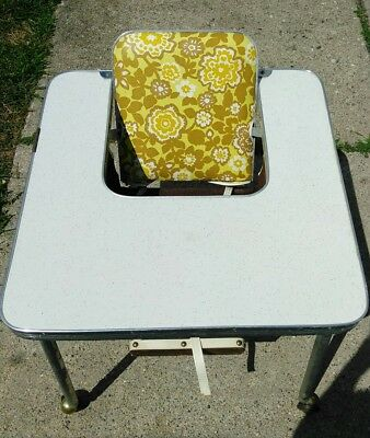 Vintage united furniture workers of America baby folding table/chair very rare