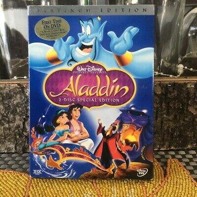 NEW IN SHRINKWRAP! Disney Aladdin 2 DVDs Platinum Ed.UPC:786936223996 L.A,Calif.
