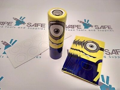 Minions Despicable Me 18650 IMR Battery Shrink Wrap + Insulator Set. 4/8 Packs