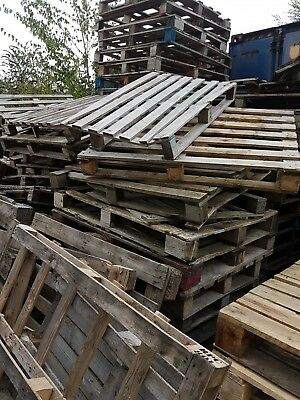 Assorted non-standard or damaged Wooden Pallets sold individually