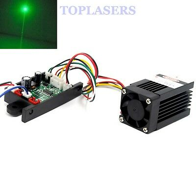 12V 532nm 50mW-70mW Green Ray Laser Diode Module w Cooling Fan