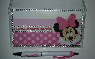 I Love Minnie Checkbook Cover with Free Pink Ribbo Awareness Pen