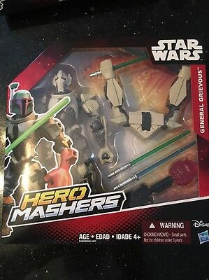Star Wars Hero Mashers Episode III General Grievous Disney New