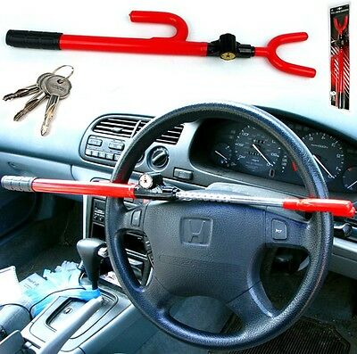 Steering Wheel Lock Car Van Security Anti Theft Keys Universal Stick Crime Ac56