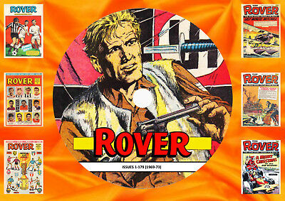 ROVER Comics (1969-73) Issues 1-179 On DVD Rom