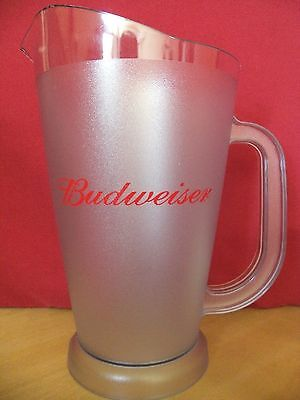 Budweiser Plastic Polycarbonate Beer Pub Pitcher 52 Oz ~ New
