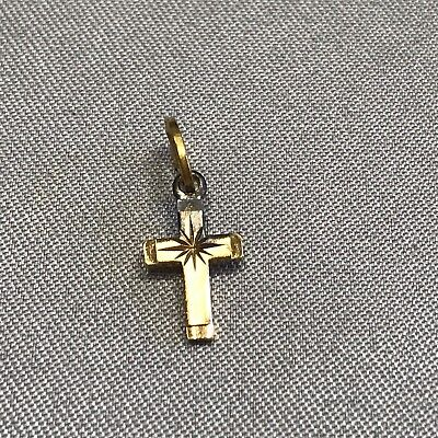 Stunning Vintage Estate Find Signed Beau-Ster Small Cross Pendant A8