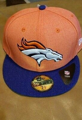separation shoes b3989 8a8f3 AUTHENTIC New Era 59FIFTY NFL Denver Broncos Heather Action 2 Tone CapHat