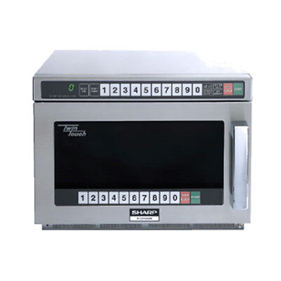 Sharp R-CD2200M Heavy-Duty Compact Commercial Microwave Oven, 2200 Watts