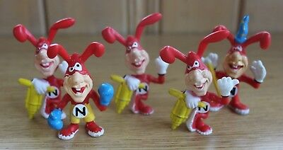 5 NOID Domino's Pizza Claymation 1987/1988 Figurines