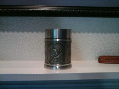 """Malasian Eastern Pewter 97 Tea Caddy  Never used, 4"""" high"""